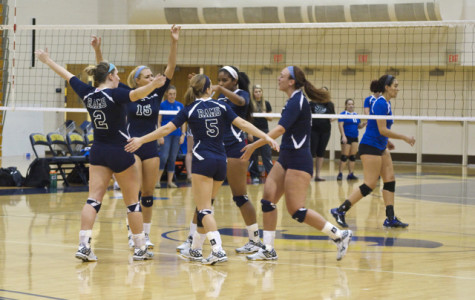 Rams sweep the court in volleyball home opener