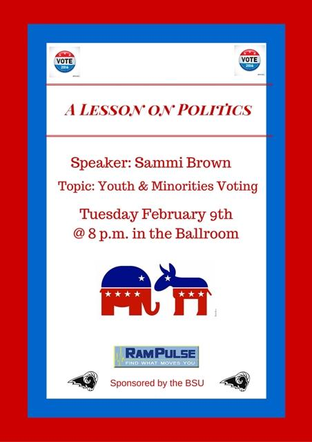"""BSU's """"A Lesson on Politics"""" event"""