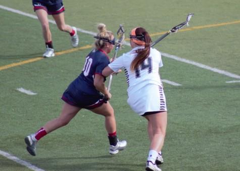 Erin Phalen defending against Shippensburg
