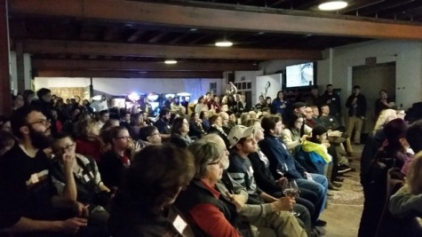 The Town Run Brewing Company was filled to the brim with people eager to get involved in Bernie Sanders Campaign.