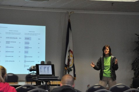 Counselor Rhonda Jackson shared a few slides with the audience on what constitutes as abuse.