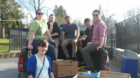 The members of the Shepherd Environmental Organization. Kenzie Allen (front), Rachel Pierce (left), Brader Burker (second from left), Ben Palmer (center), Ferris Sinnas (second from right), Demian Nunez (right)