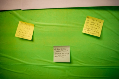 Some inspirations posted on the board include family, God, coworkers and fellow club members