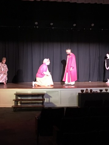 Medea pleads with Aegeus for sanctuary in her exile.