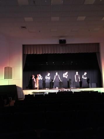 chorus in Medea dancing for interlude between scenes.