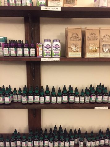 The Herb shop has several different therapeutic remedies to try.