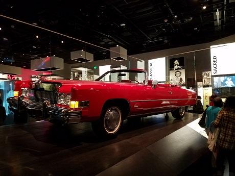 Chuck Berry's Cadillac El Dorado on display.