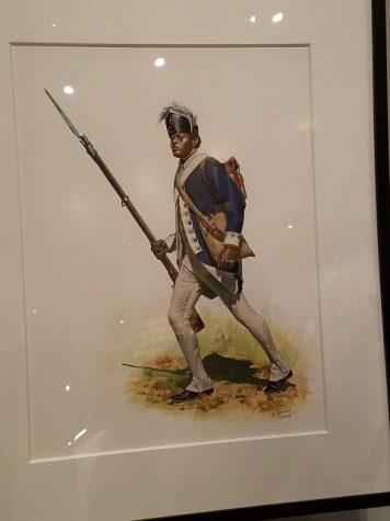 An African American Patriot during the Revolutionary War. Many black people took up arms against the British Empire in hopes it would help them gain more rights.