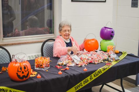 Donated candy has been passed out in each building participating the event