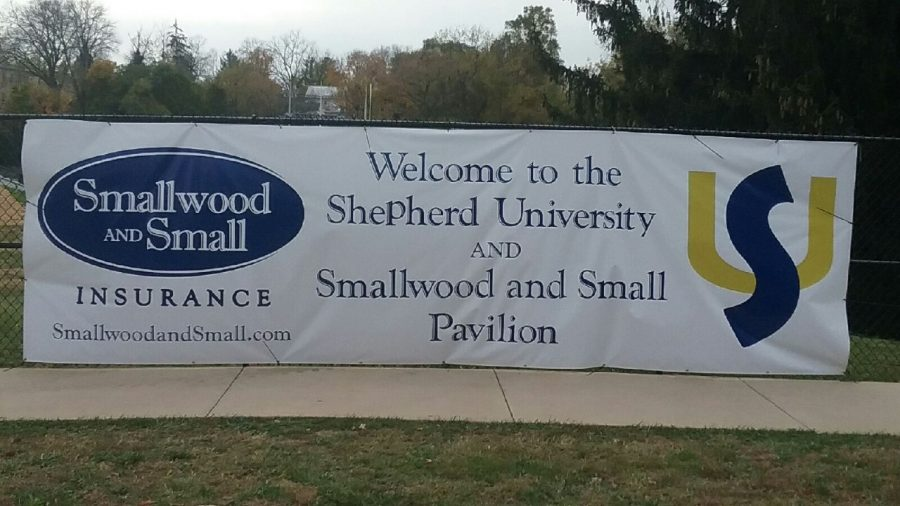 The advertisement of the pavilion at Shepherd University.