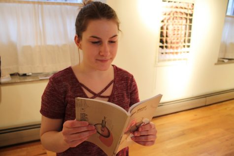 Marilyn Creager browses through the new volume of Sans Merci.