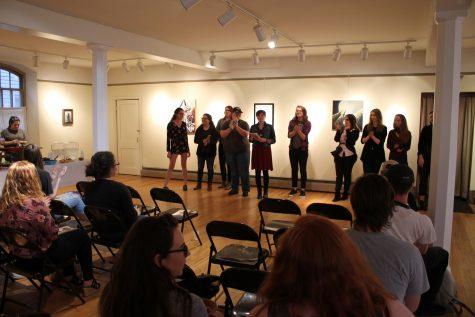Editors of Sans Merci prepare to announce winners