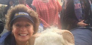 Shepherd's president poses with J.C. the Ram