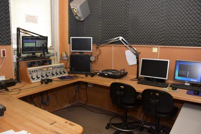 The inside of Shepherd's Radio Station WSHC