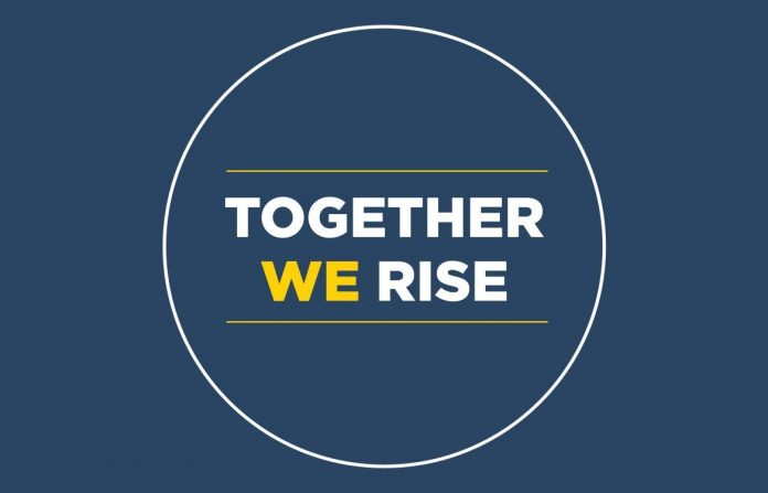 Together we rise text