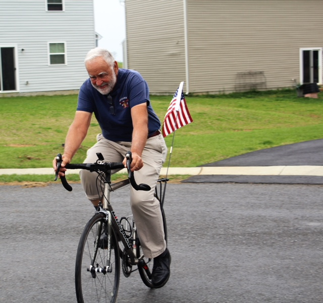 Jerry Lachance biking for Project Hero