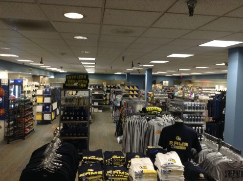 Inside the newly renovated campus bookstore