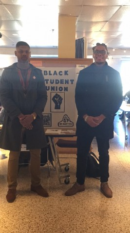 Student leaders Da'Shawn Long (left) and Charles Gains exemplify pride in Shepherd's newest organization called Black Student Union.