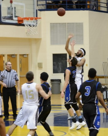AJ Carr puts up a floater in the lane