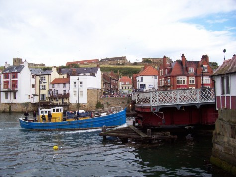 A photo of Robin Hood's Bay at the eastern terminus of the walk.