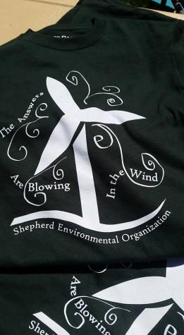 Shepherd Environmental Organization T-Shirts, designed by Rachel Pierce.