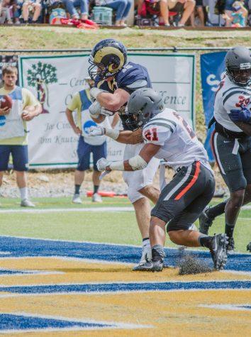 Hlavach breaks through for a touchdown